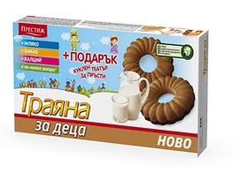Престиж Бисквити Траяна за деца с мляко 127 г