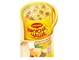 Maggi Вкусна чаша Супа със сирена и крутони 19 г
