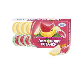 Лимонови резенки с плодов сок 135 г