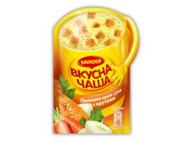 Maggi Вкусна чаша Пилешка крем супа с крутони 16 гр