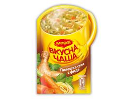 Maggi Вкусна чаша Пилешка супа с фиде 15 г