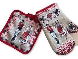 Комплект ръкохватки щампа с народни носии