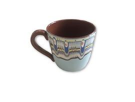 Чаша за чай с троянска шарка Синя