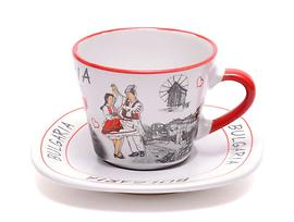 Чаша с чинийка Фолклорен танц