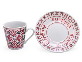 Чаша за кафе с чинийка Шевица