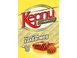 Керпи Вафли с халва и мед 250 г