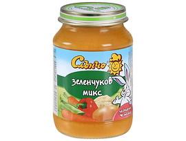 Слънчо Бебешко пюре Зеленчуков микс 4 190 г