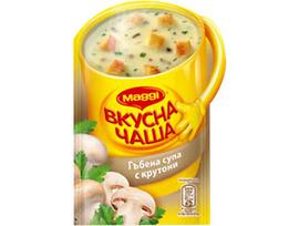 Maggi Вкусна чаша Гъбена супа с крутони 15 г