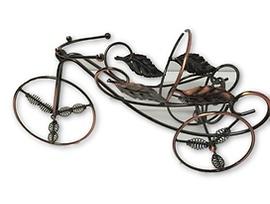 Поставка за вино Велосипед тип ковано желязо