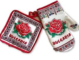 Комплект ръкохватки щампа Българска роза
