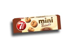 7 Days мини бисквити с шоколадов крем 100 г
