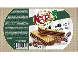 Вафли с какао Керпи 190 г