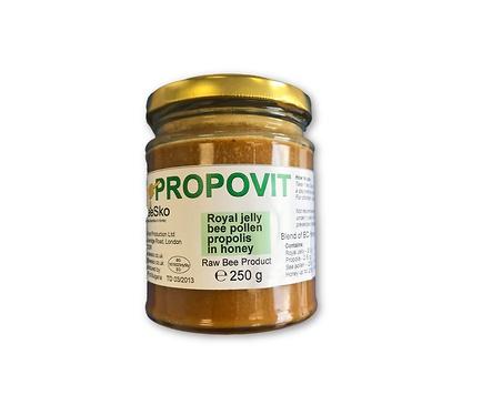 Propovit Български мед смесен с пчелно млечице полен и прополис 250 мл