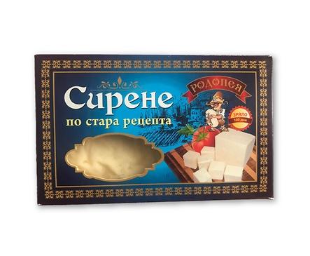 Родопея сирене по стара рецепта в картонена кутия кутия 18 бр