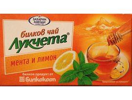 Билков чай Лукчета мента и лимон 24 г