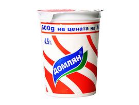 Полидей Домлян Кисело мляко 45 масленост 400 г